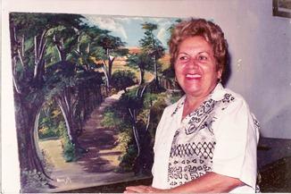 A artista Nuncyta Almeida